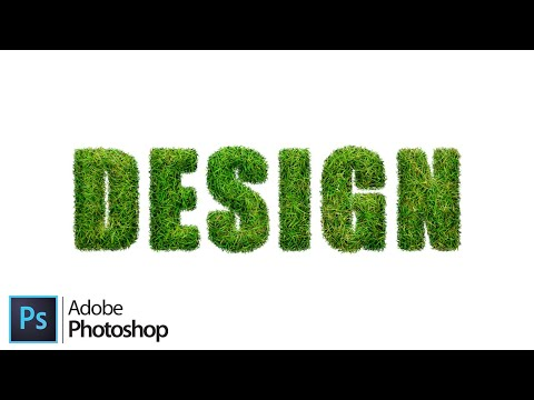 How To Create A Grass Text Effect In Adobe Photoshop