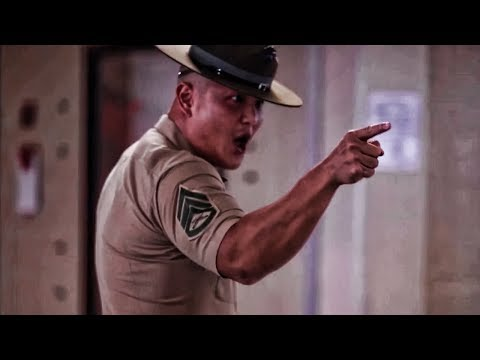 USMC Drill Instructors Meet New Recruits • Initial Speech