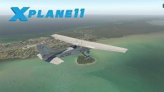 X Plane 11 | Florida Keys | C172 | ORTHO4XP PHOTO REALISTIC SCENERY