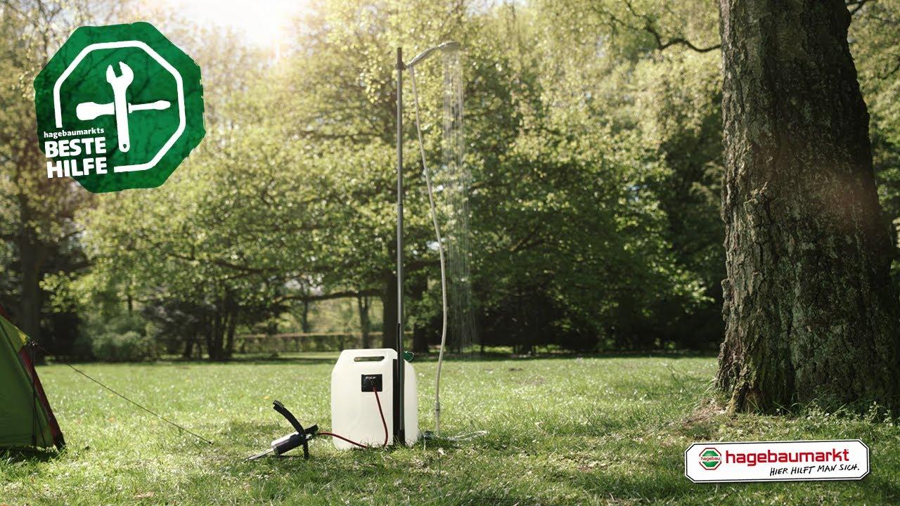 """outdoor dusche selber bauen outdoor-erfrischung selber bauen - diy anleitung """"open-air-dusche"""""""