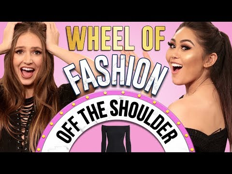 OFF-THE-SHOULDER CHALLENGE?! Wheel of Fashion w/ Roxette Arisa & Courtney Randall