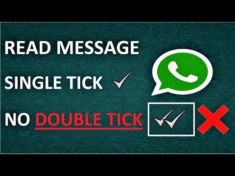 What does one tick mean on a whatsapp message