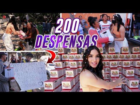 REGALE 200 CAJAS DE DESPENSA ? ASÍ REACCIONARON | Kimberly Loaiza