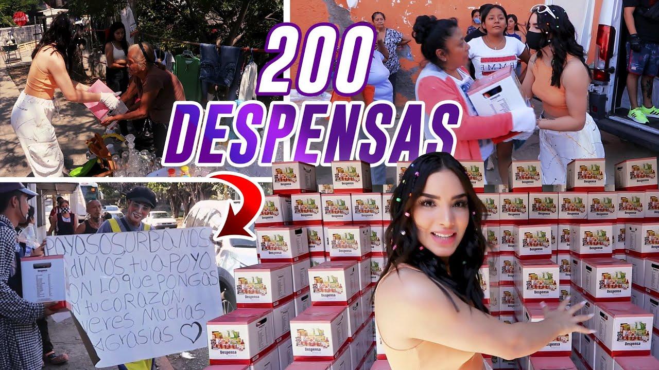 REGALE 200 CAJAS DE DESPENSA 😱 ASÍ REACCIONARON | Kimberly Loaiza