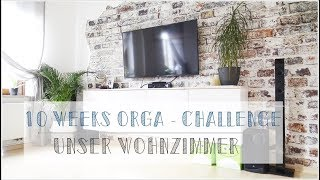 10 Weeks Organizing Challenge I #3 I Wohnzimmer ausmisten & organisieren I Minimalismus I KonMarie