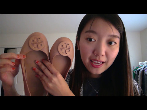 Tory Burch Minnie Travel Flats Haul - Light Oak, Black/Gold, Mango