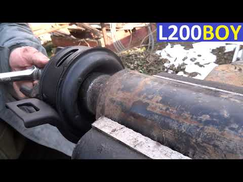 Mitsubishi l200 2,5DiD how to change drive shaft center bearing and cross joint cardan job