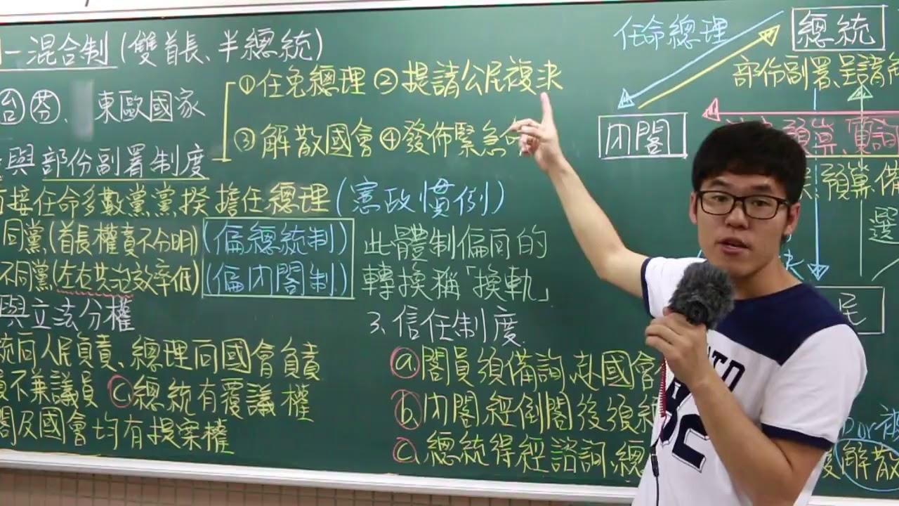 B2L3政府的體制—混合制 X 丹尼老師的公民教室 - YouTube