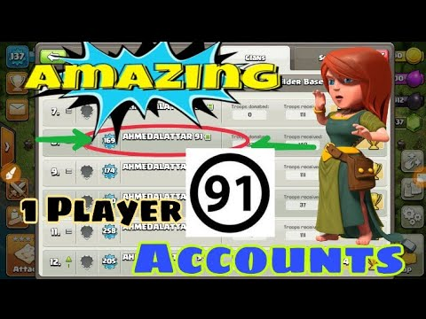 Player with maximum accounts in Clash of clans|| Most active player in COC of all time||COC addict