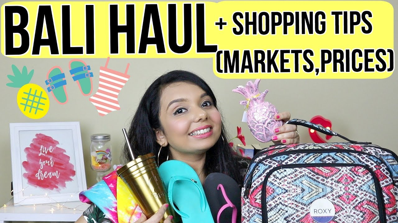 Bali 2018 Haul Where To Shop Tips Prices Coffee Youtube