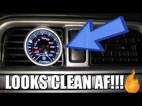 VENT POD BOOST GAUGE INSTALL | Wired To Startup!!!