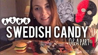 ☠️ SWEDISH CANDY ☠️ / q&a answers PART 1 ~ ASMR Relaxing Eating Sounds