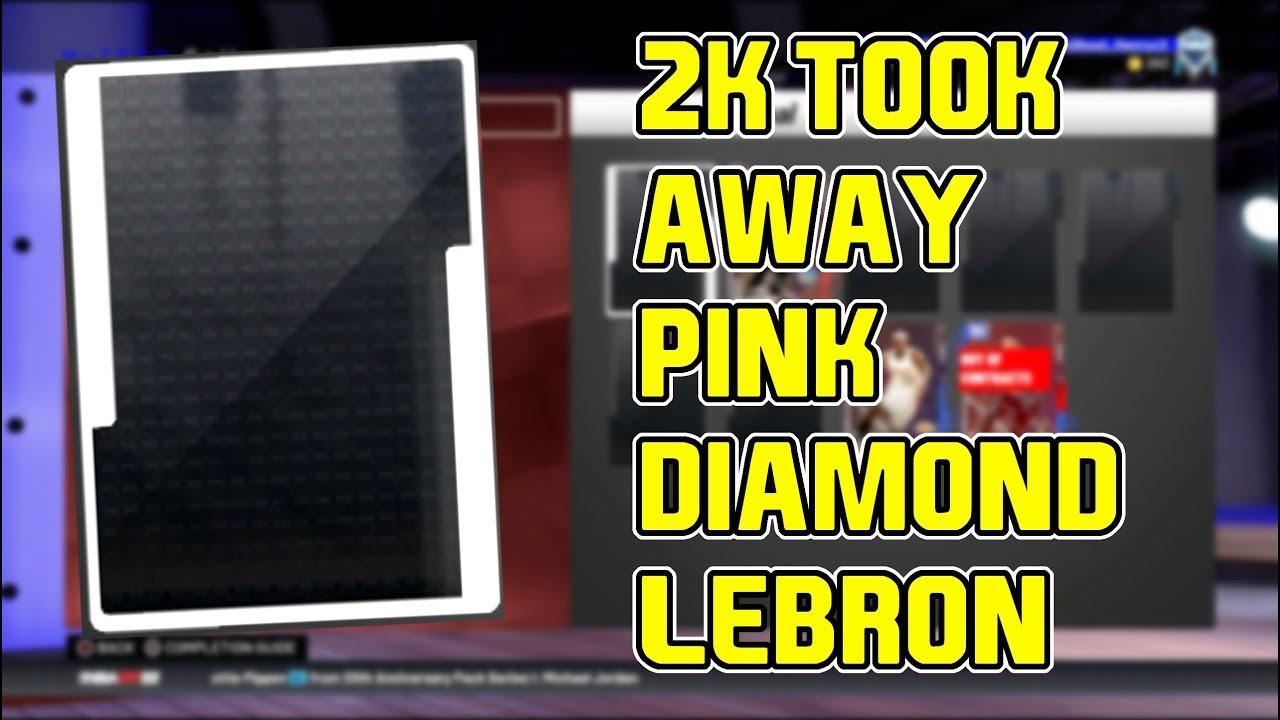 2k Took Away Pink Diamond Lebron We Need To Be