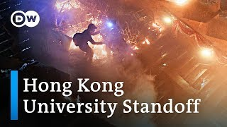 What happens at the Hong Kong University standoff between protesters and police? | DW News