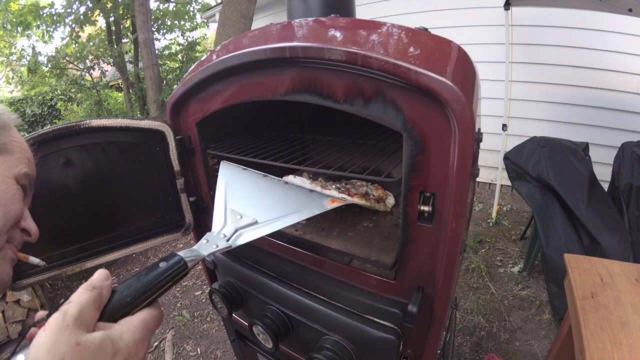 Wonderful PIZZA DOUGH RECIPE AND MAKING PIZZA IN CUISINART OUTDOOR WOOD BURNING OVEN  P501