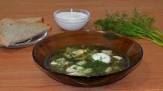 Щавелевый суп с курицей и яйцом. Sorrel Soup.