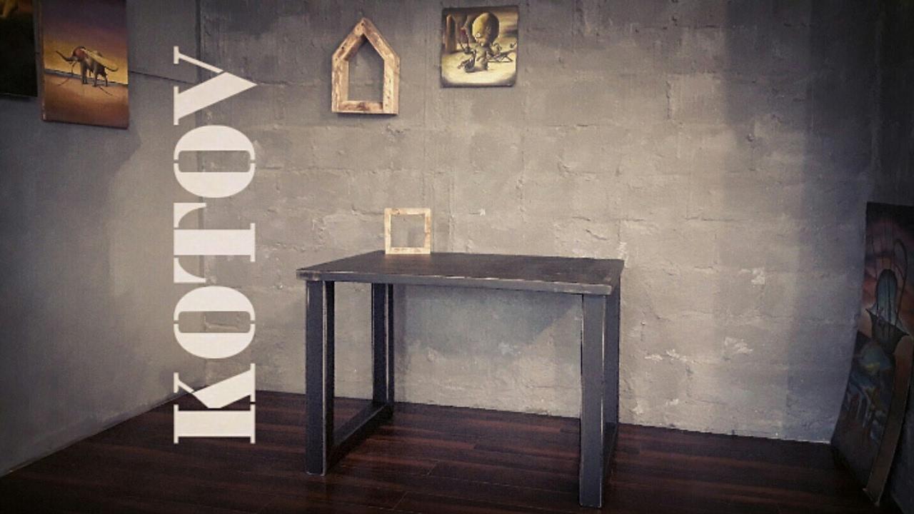 Стол в стиле лофт своими руками. Мебель своими руками.