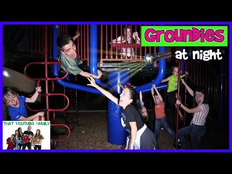 Groundies At Night - Playground Wars / That YouTub3 Family
