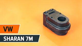 Sådan udskifter du de bageste stabilisatorstøtter på VW SHARAN 7M [GUIDE]