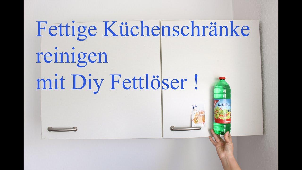 Fett von Küchenschränken Mühelos entfernen ! Fettlöser selber machen ! -  Clean Kitchen Cabinets