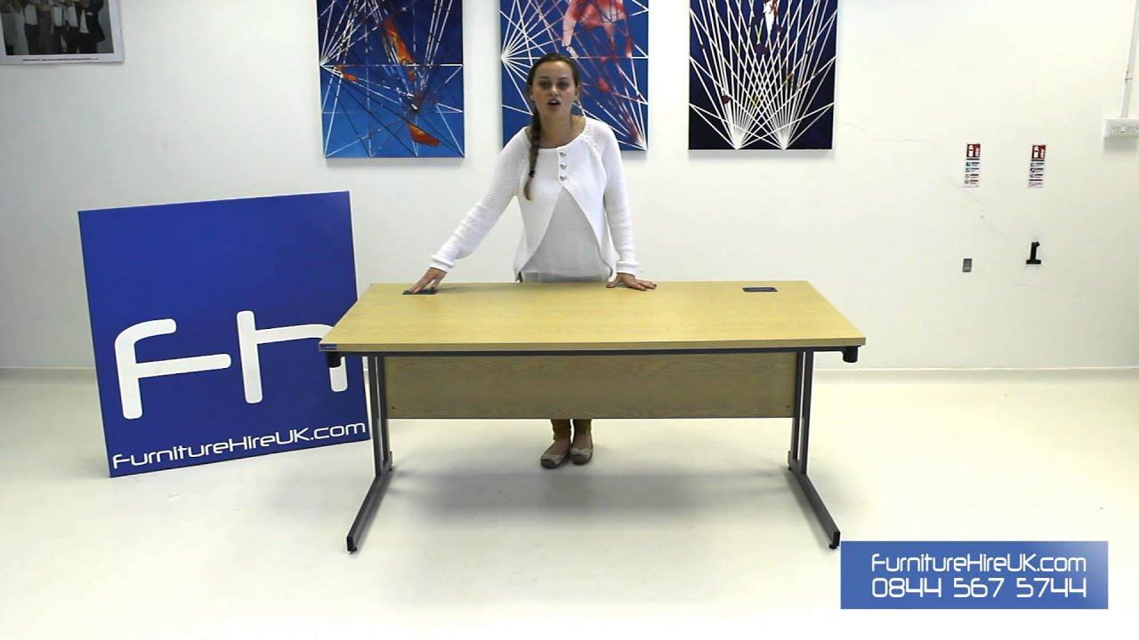 1600mm Folding Leg Straight Desk Demo - Furniture Hire UK
