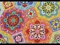 Persian Tiles blanket - Eastern Jewels. Шикарный плед крючком.