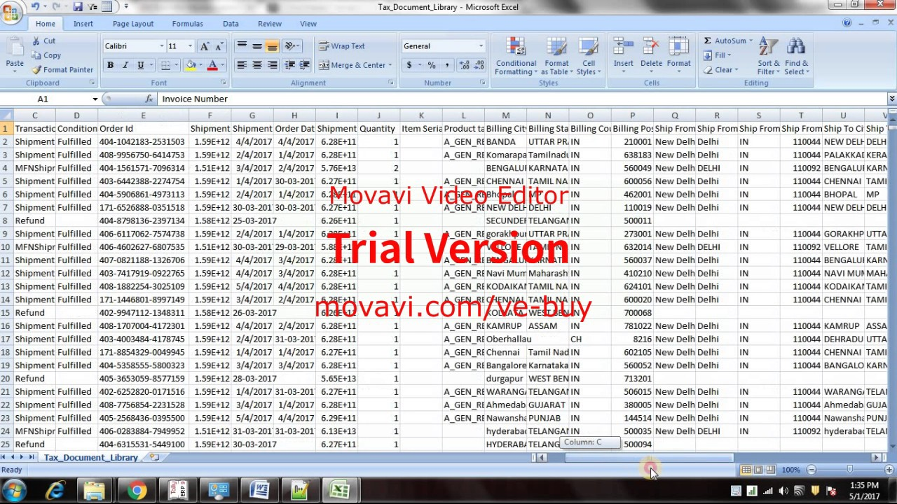 how to import amazon sales data into tally using excel file youtube