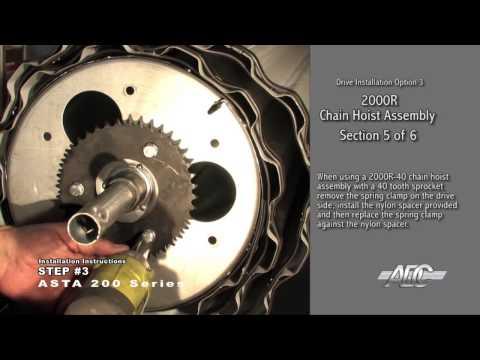 ASTA Door 200 Commercial Series, Roll Up Overhead Installation Video