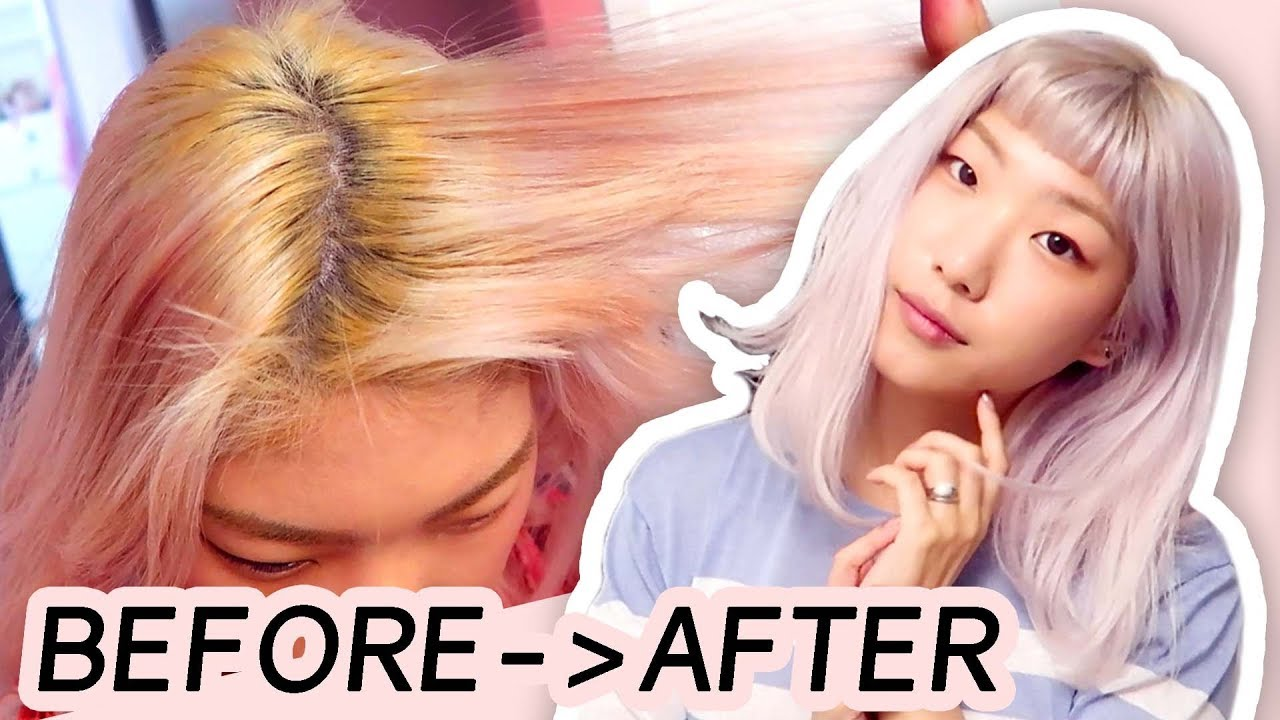 Toning My Hair From Yellow Pink To Platinum Blonde