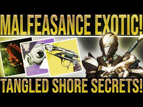 Destiny 2. MALFEASANCE REVIEW! Tangled Shore, Ghost Fragments, Etheric Spirals, Frozen Fallen