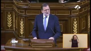 Rajoy ridiculiza el discurso de Pablo Iglesias