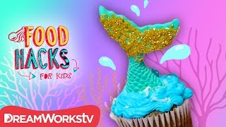 Mermaid Cupcake + Fairytale Princess Hacks! | FOOD HACKS FOR KIDS