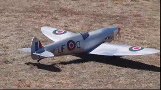 Spitfire 1943 RC Electric Model Air plane stand off scale Scratch Built.