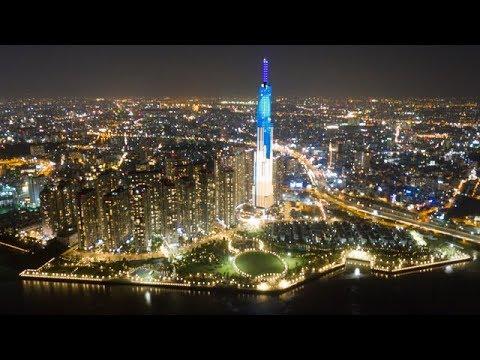 Landmark 81: Tòa nhà cao nhất Việt Nam lung linh về đêm giữa Sài Gòn xa hoa | Vres tv