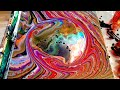 #24 Pouring a planet with acrylic flow art.