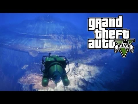GTA 5 Easter Eggs - Underwater UFO! (GTA V Easter Egg)