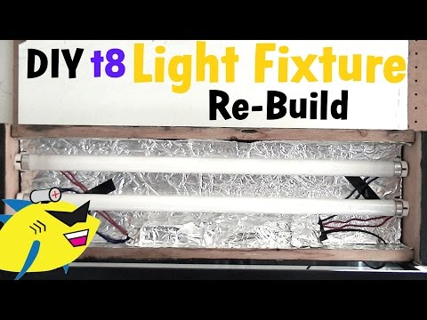 How To Make: DIY Aquarium Light (t8 Light Fixture Build)