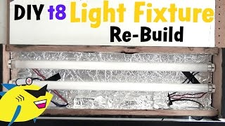 how to make diy aquarium light t8 light fixture build