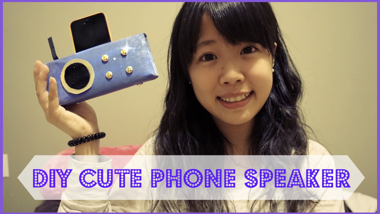 DIY Cute Phone Speaker and Stand | melodydailyy