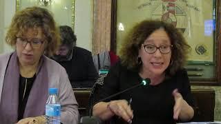 Alicia Morales defiende la moción conjunta sobre la lanzadera en la zona del soterramiento