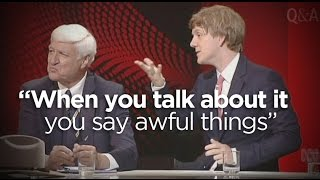 Josh Thomas takes Bob Katter to task over his past comments on homosexuality