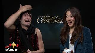 Download Video The Juice Interview with Ezra Miller and Claudia Kim MP3 3GP MP4
