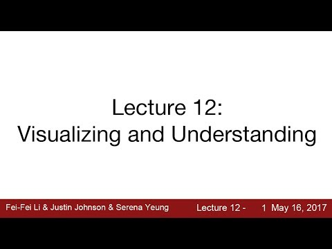 Lecture 12 | Visualizing and Understanding