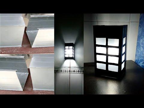 Cara Membuat Lampu Hias Motif Kotak-kotak Dari Pipa Paralon PVC Bekas