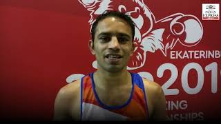 Amit Panghal becomes first Indian ever to enter World Boxing Championships final
