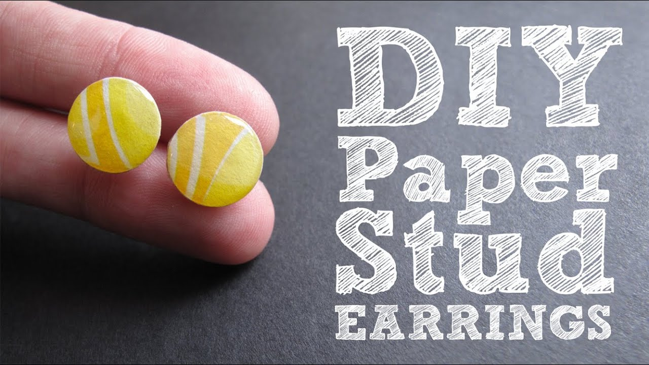 Diy Paper Stud Earrings  Cute & Colorful Upcycled Jewelry Tutorial