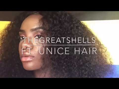 Curly Hair Routine ft UNICE HAIR