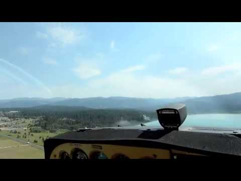 Flying into and out of Running Creek Ranch in Selway Wilderness Idaho