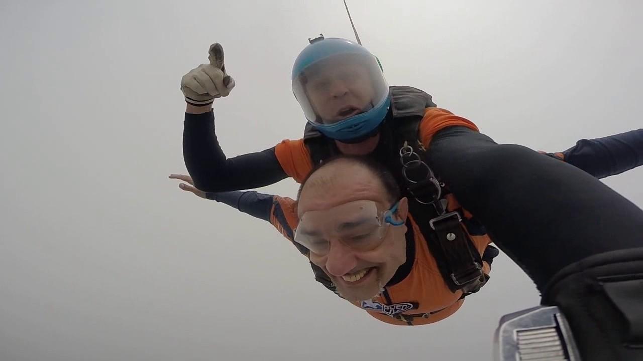 Salto de Paraquedas do Ricardo na Queda Livre Paraquedismo 22 01 2017
