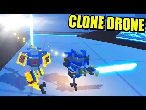 DUELOS ONLINE - Actualización CLONE DRONE IN THE DANGER ZONE   Gameplay Español